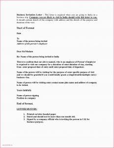 Business Visa Invitation Letter Template - Sample Invititation Letter formal Letter Template Unique bylaws