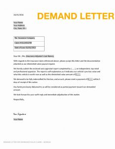 Car Accident Demand Letter Template - Insurance Demand Letter Template Download