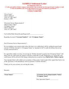 Car Accident Settlement Letter Template - Full and Final Settlement Letter Template Car Accident Samples