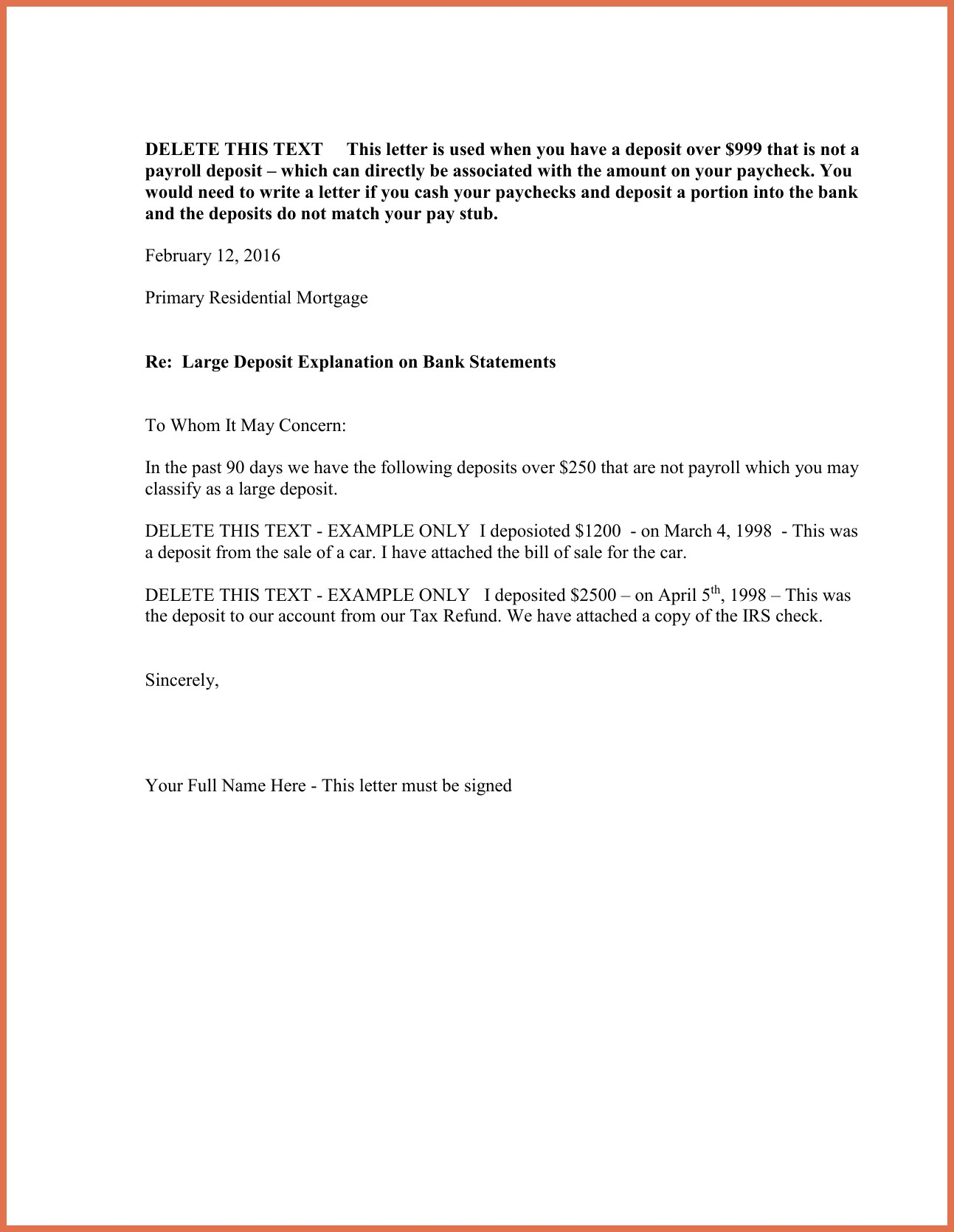 cash out refinance letter template example-cash out refinance letter template 16-p