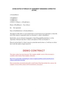 Cease and Desist Letter Breach Of Contract Template - Cease and Desist Letter Breach Contract Template Collection