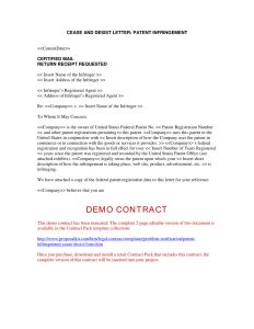 Cease and Desist Letter Copyright Infringement Template - Patent Infringement Letter Template Collection