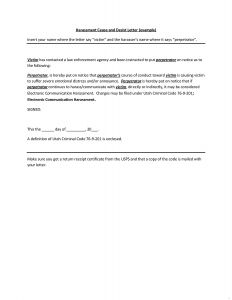 Cease and Desist Letter Harassment Template - Free Cease and Desist Letter Template for Harassment Examples