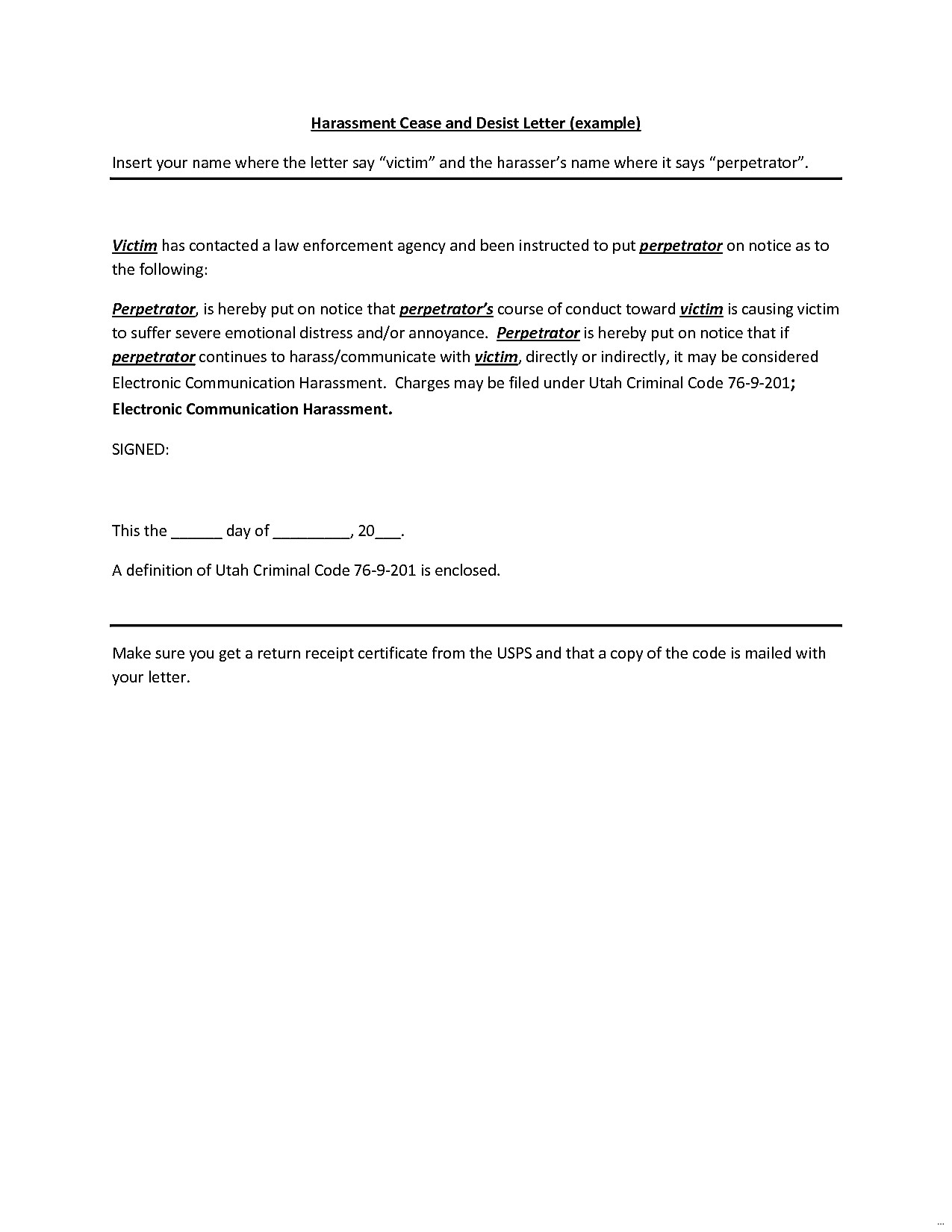cease and desist letter harassment template Collection-free cease and desist letter template for harassment 14-c