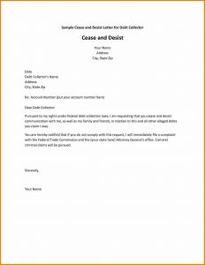 Cease and Desist Letter Template for Debt Collectors - Letter to Debt Recovery Valid Cease and Desist Letter Template for