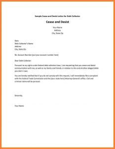 Cease and Desist Letter Template for Debt Collectors - Cease and Desist Collection Letter Template Collection