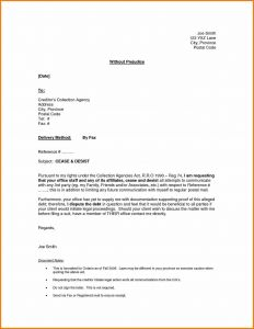 Cease and Desist Letter Template for Debt Collectors - Collection Agency Cease and Desist Letter Template Collection
