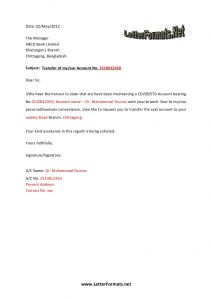 Change Of Ownership Letter to Vendors Template - Bank Account Transfer Letter