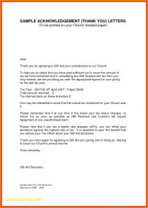 Church Donation Letter for Tax Purposes Template - Church Donation Letter Template Editable Sample Thank You Letter for