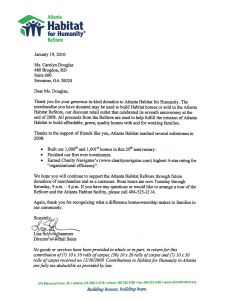 Church Donation Letter for Tax Purposes Template - Donation Letter Template for Tax Purposes Sample