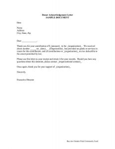 Church Donation Letter for Tax Purposes Template - Car Donation Letter Template Samples