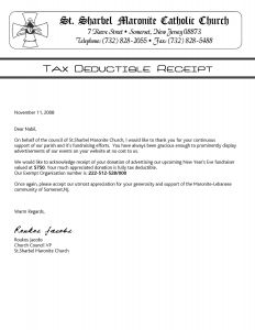 Church Donation Letter for Tax Purposes Template - Church Donation Letter Template Fresh Church Donation form Template