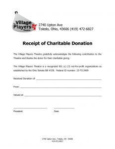 Church Donation Letter for Tax Purposes Template - Sample Donation Letter for Tax Purposes