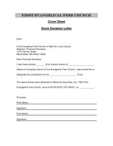 Church Letter Template - Donation Letter Template for Fundraiser Download