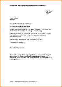 Claim Denial Letter Template - Insurance Denial Letter Template Cv Templates Template Letter for