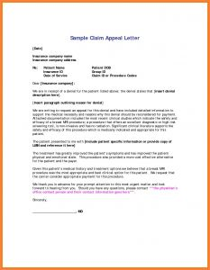 Claim Denial Letter Template - Insurance Denial Letter Template Collection