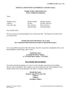 Claim Denial Letter Template - Bond Claim Letter Template Best Appeal Letter Template Medical
