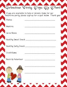 Classroom Party Letter to Parents Template - A Sample Class Party Sign Up Sheet that I Made