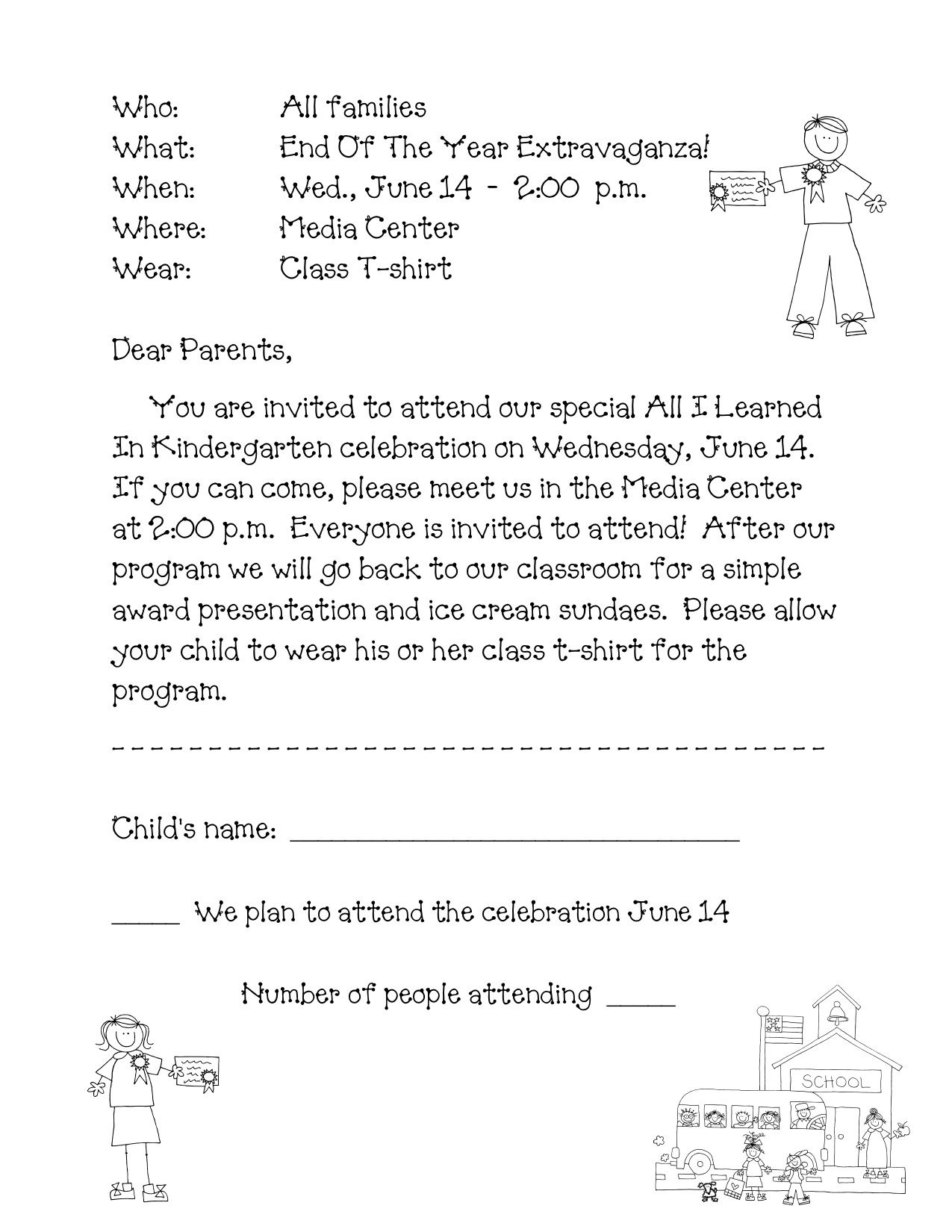 classroom party letter to parents template example-preschool graduation program sample Google Search 19-t
