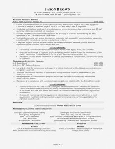 Coast Guard Letter Of Commendation Template - Coast Guard Security Sample Resume