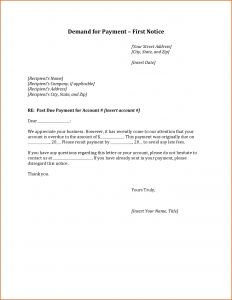 Collections Letter Template Final Notice - Demand for Payment Letter Template Download
