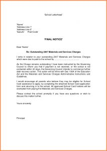 Collections Letter Template Final Notice - Collection Letter Template Final Notice