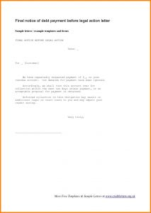 Collections Letter Template Final Notice - Final Demand Letter Example Uk Fresh Final Notice before Legal