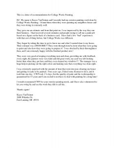 College Admissions Recommendation Letter Template - Reference Letter Kindergarten Student Fius