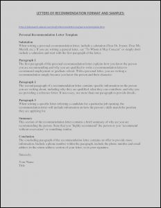 College Letter Of Recommendation Template - General Letter Re Mendation Template Downloadable Graduate