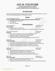 Completion Letter Template - Resume Building Services Unique Awesome Examples Resumes Ecologist