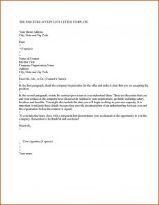 Conditional Acceptance Letter Template - Conditional Fer Employment Letter Template Downloadable