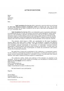 Conference Welcome Letter Template - format India Visa Template Invitation Letter Dubaivisa Invitation