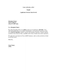 Conference Welcome Letter Template - Meeting Decline Letter Well Written Example Letter for Declining
