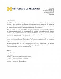 Conference Welcome Letter Template - Cover Letter Template Umich Cover Letter Template