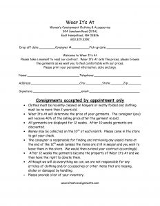 Consignment Letter Template - Consignment Inventory Agreementemplate Awesome Letter Sample format