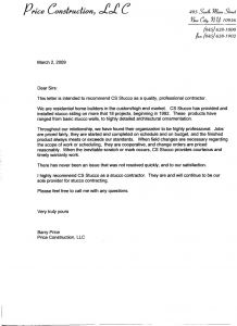 Construction Warranty Letter Template - Contractor Warranty Letter