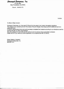 Construction Warranty Letter Template - General Contractor Warranty Letter Template Gallery