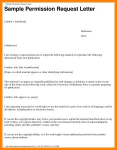 Copyright Permission Letter Template - Copyright Permission Letter Template Examples