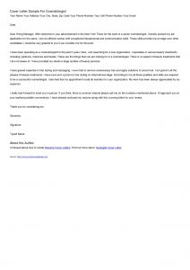 Cosmetologist Cover Letter Template - Cosmetology Resume Samples Beautiful Cosmetology Instructor Cover