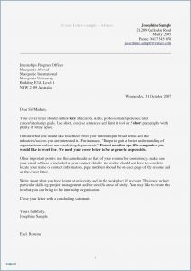 Cover Letter for Resume Template - Free Letter Employment Template Collection
