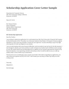 Cover Letter for Scholarship Template - Free Application Letter Template – Need Job Application Letter
