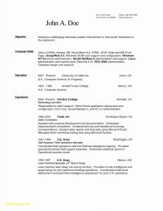 Cover Letter Template Computer Science - Cover Letter and Resume Template Best Resume Doc Template Luxury