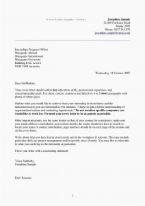 Cover Letter Template for Internship - 29 Free Example Letter Gallery