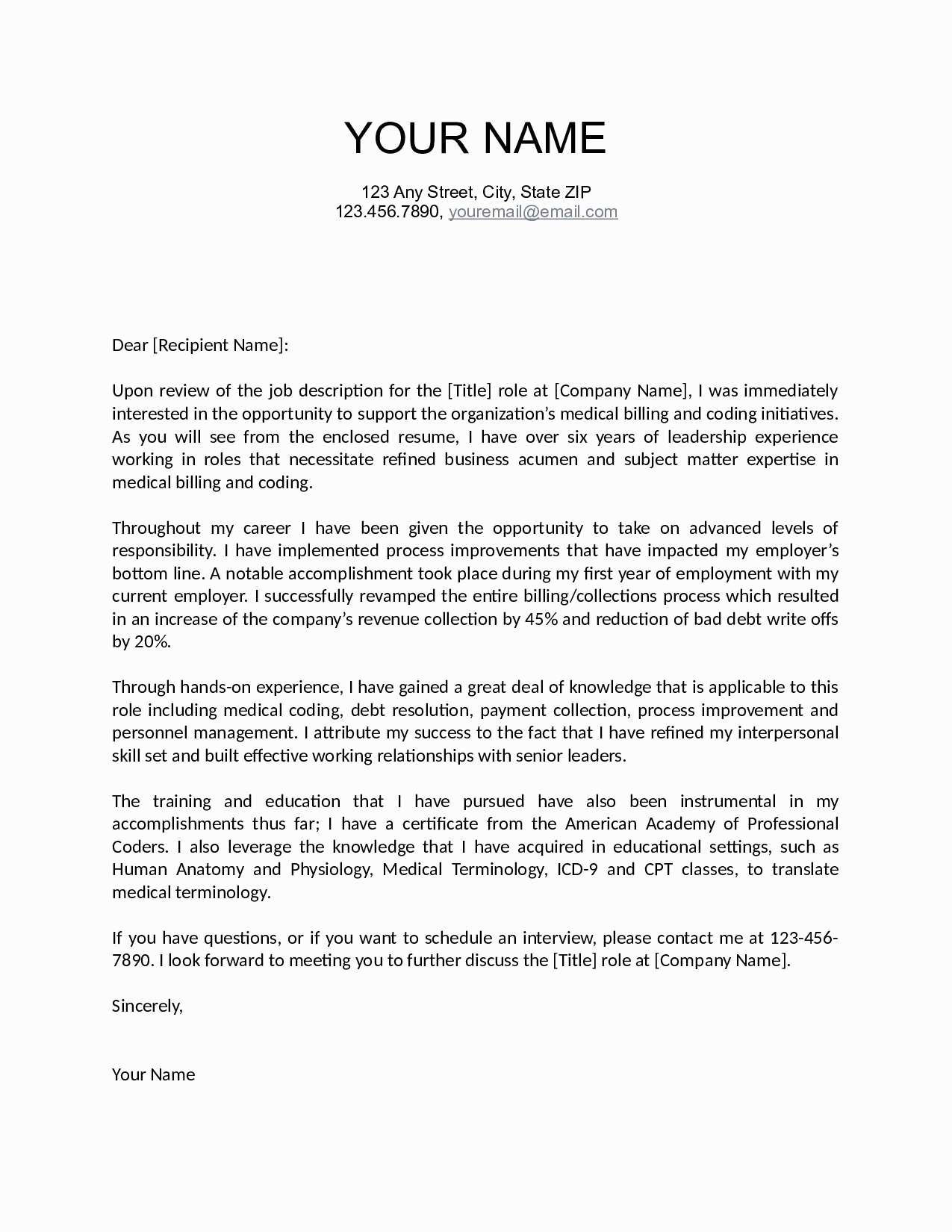 18 cover letter template free download samples