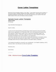 Cover Letter Word Template - Samples Cover Letters for Jobs Valid It Cover Letter Template