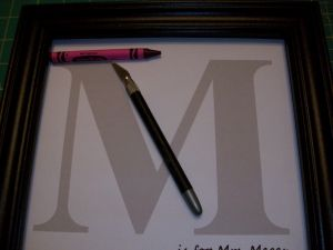 Crayon Monogram Letter Template - Couponquilter Crayon Monogram & Tutorial