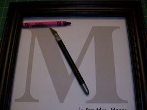 Crayon Monogram Letter Template - Couponquilter Crayon Monogram & Tutorial