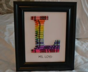 Crayon Monogram Letter Template - Personalized Framed Crayon Monogram $55 00 Via Etsy