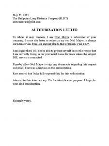 Credit Card Authorization Letter Template - Pldt Authorization Letter Sample Free Doc the