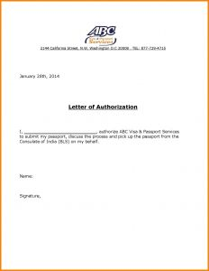 Credit Card Authorization Letter Template - Authorisation Letter format for Visa Save the Authorization Letter